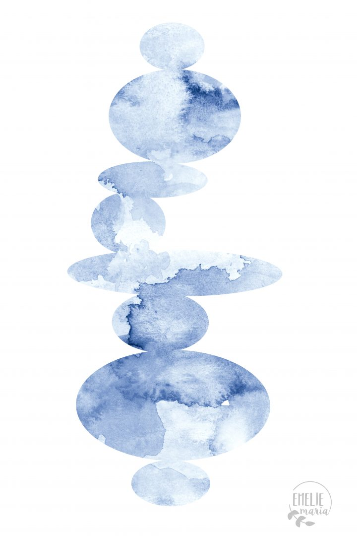 Blå stenar